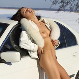 Sexy girl and car 18+